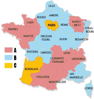 carte france zones
